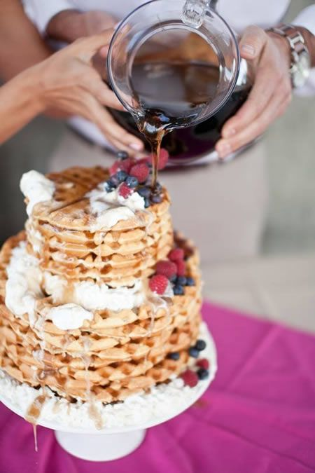 Waffle Cake Perfect For Brunch Weddings