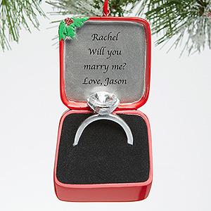 Fab Find Christmas Ornament Proposal  BravoBride