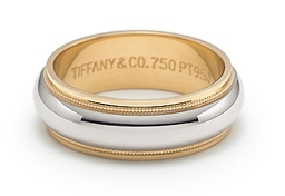 Tiffany & Co. Platinum & Gold Wedding Band - almost half off!