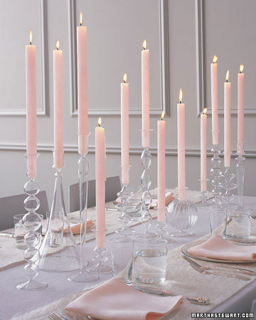 Beautiful candle centerpiece by Martha Stewart