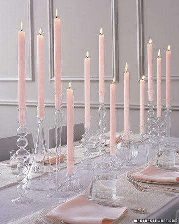 Beautiful candle centerpiece by Martha Stewart