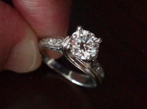 This lovely 1 carat diamond ring is marked down to $2,500
