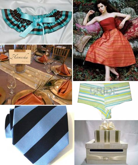 If you love stripes then we have some wedding items on BravoBride you might