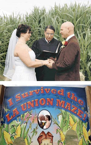 Corn Maze Wedding