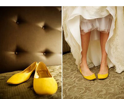 if you are not a fan of heels andor maybe youre a bit taller than your groom try a pair of comfy flats so you dont have to kick your shoes off