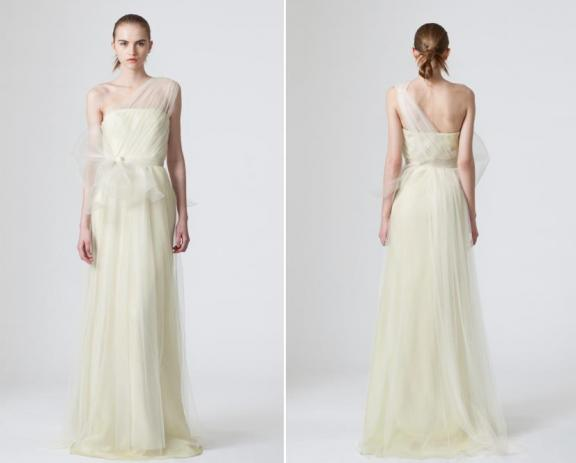Vera Wang Spring 2010 Wedding Dresses One Shoulder