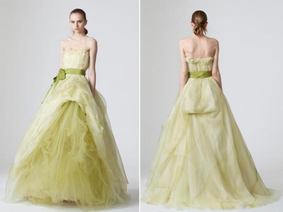 Vera Spring 2010 Wedding Dresses Pea Green