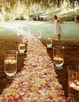 cheap ideas for wedding decorations. Many of the ideas provided are simple and easy decorations you could do