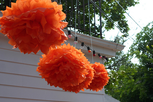 DIY Wedding Decorations - How to Make Paper Poofs