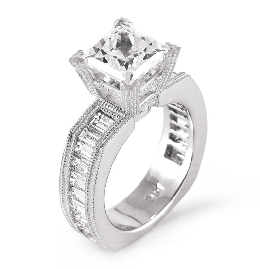 Diamond engagement rings how to get the best bang for your buck this stunning ring would definitely turn heads diamond engagement rings junglespirit Choice Image