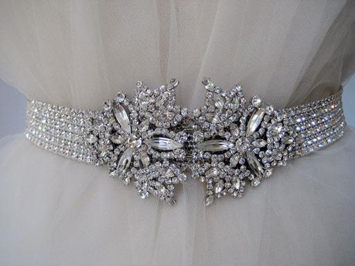 crystal wedding belt Inguene B Magnificent Crystal Sash