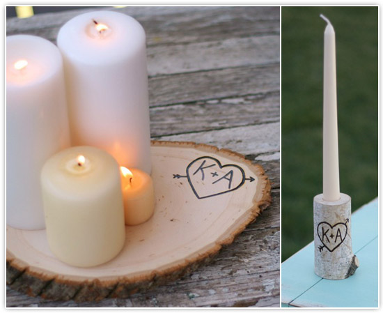 unique wedding candles