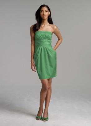 David's bridal green bridesmaid dress