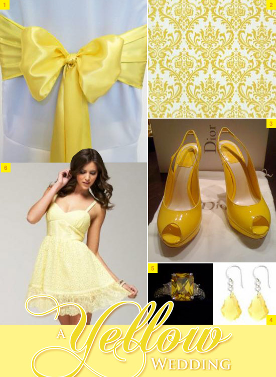 yellow wedding items