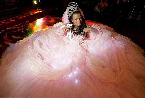 Light up wedding dress