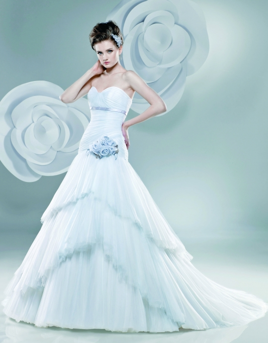 Blue Wedding Dress Bravobride