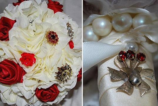 Affordable brooch bouquets