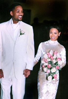 Jada Pickett wedding dress