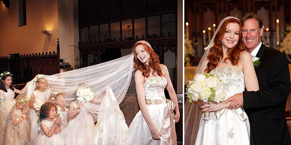 marcia cross wedding gown