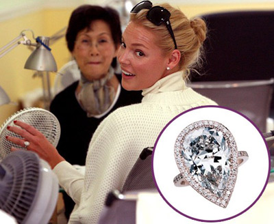 Katherine Heigl engagement ring Asymmetrical defines unique meaning