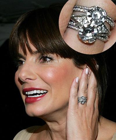 Sandra Bullock engagement ring