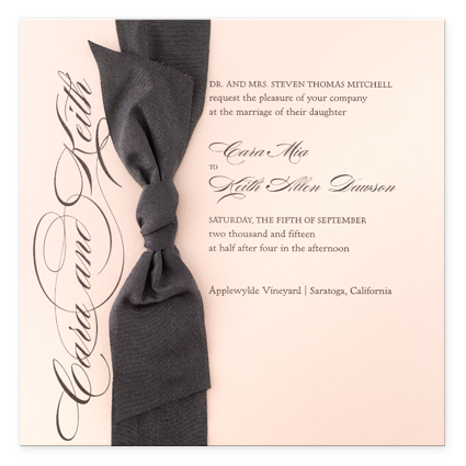 This pretty in pink invitation would be perfect for a more formal affair
