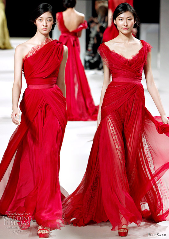 Green and Red Wedding Dresses