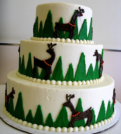 If you like reindeers you 39ll love this reindeer wedding cake