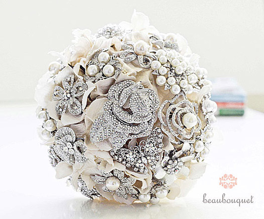 This Lovely Bouquet Is By Beau And It Features Silk Flowers Of Course Brooches