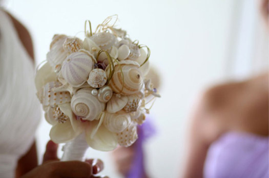 shell wedding bouquet