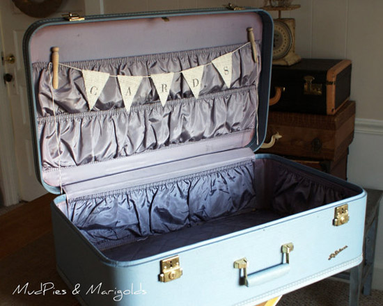 suitcase wedding card box How perfect would this be for a destination