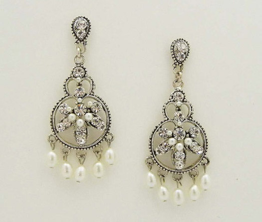 vintage Filigree bridal Earrings