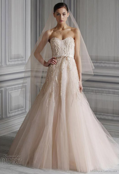 Favorite Blush Wedding Dresses Monique Lhuillier Candy