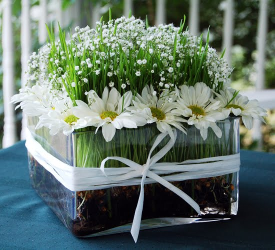 wheat grass wedding centerpieces