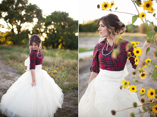 Fun and Beautiful  Plaid flannel Wedding and For the