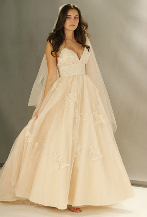 Images Of Blush Wedding Dresses : Lazaro blush wedding dress wtoo dresses