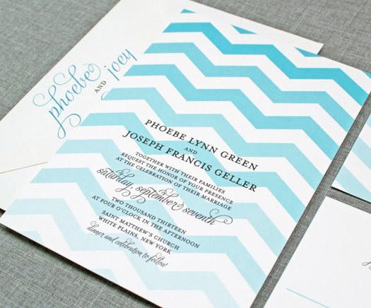 Ombre Wedding Invitation: Ombré Wedding Ideas