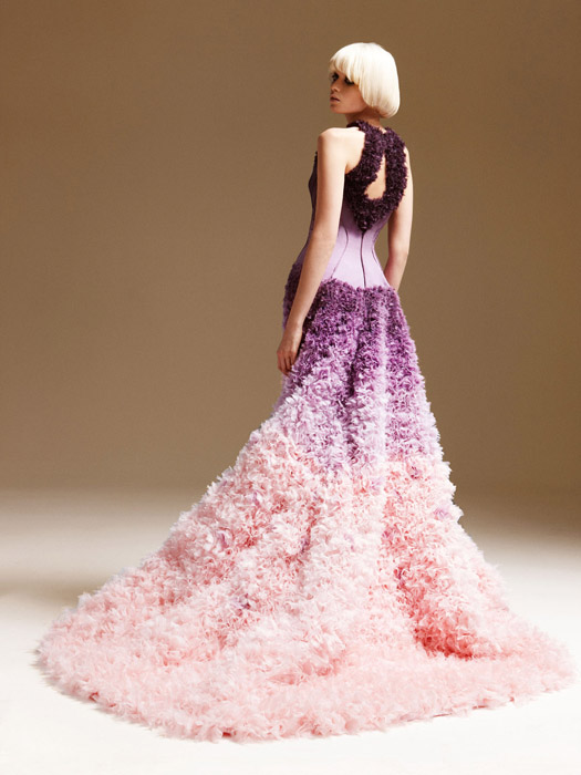 Purple Ombre Wedding Dress
