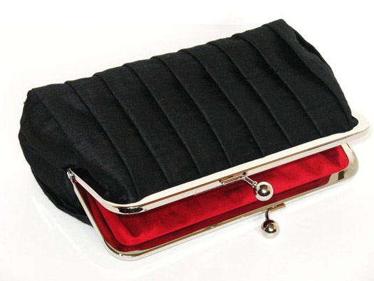 black wedding clutch