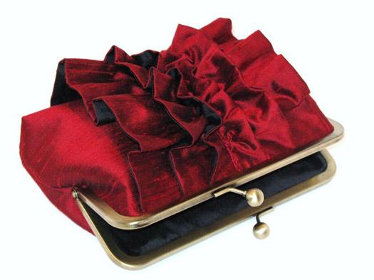 red bridal clutch