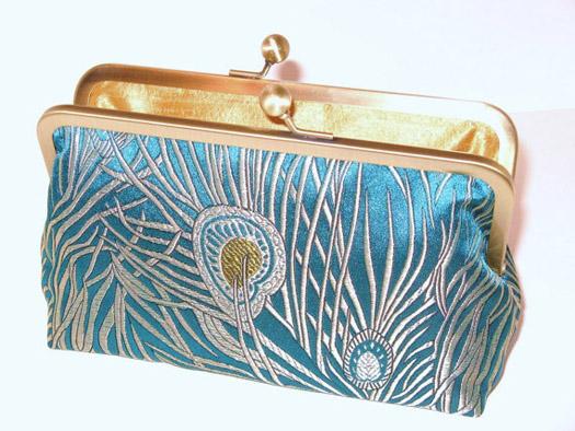peacock wedding purse