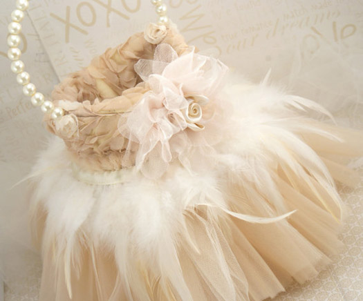 The Feather And Tulle Basket This Basket Is A Combination Of Stunning