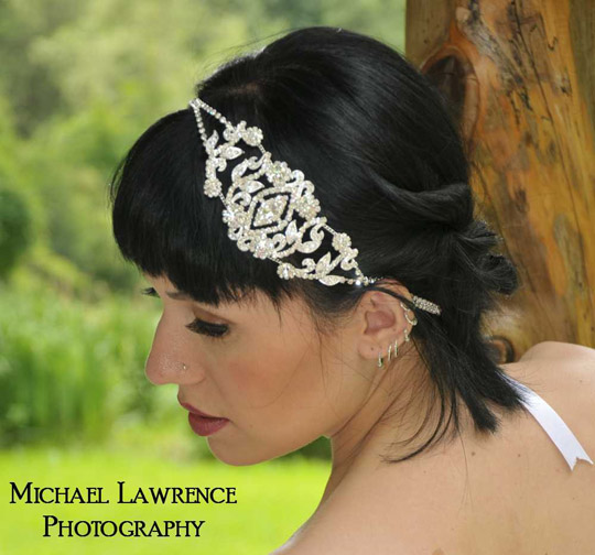 crystal wedding hair accessory