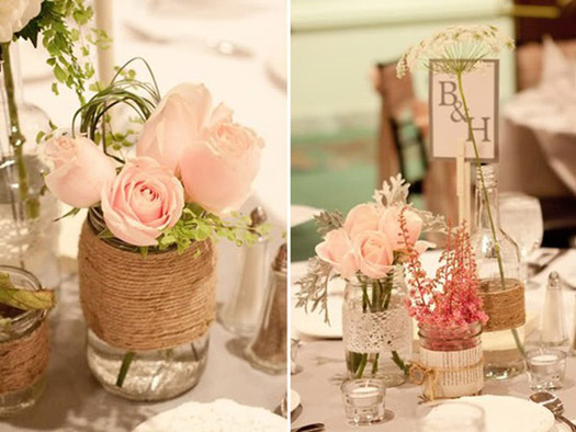Simple Mason Jar Centerpiece Ideas : Mason jar centerpieces ideas bravobride