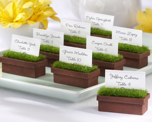 ... as place card holders and theyd be perfect at a garden wedding