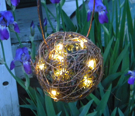 grapevine ball lantern