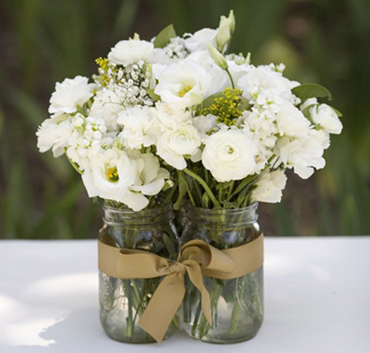 mason jar wedding bouquet