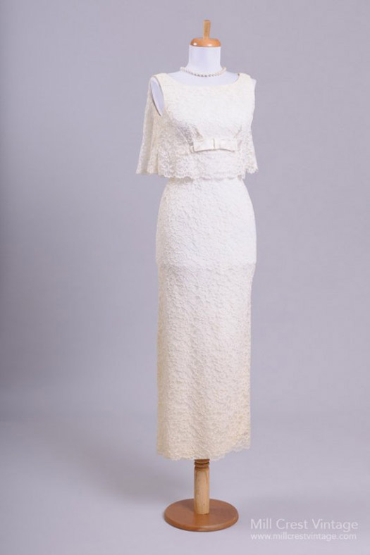 vintage wedding dress lace