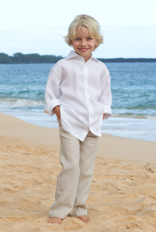 Childrens Linen Pants Pi Pants