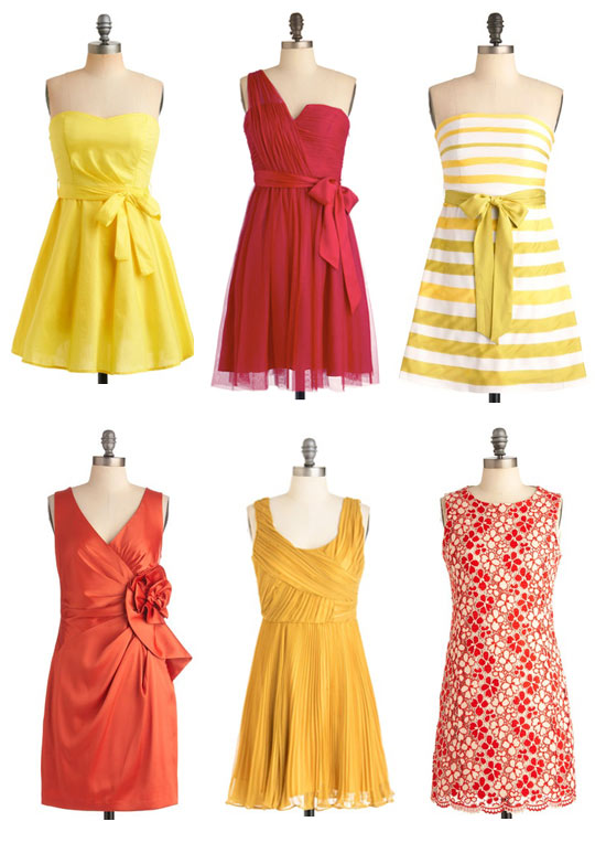 modcloth bridesmaid dresses